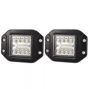 2 x 4inch CREE LED Work Light Flush Mount Spot Flood Reverse Offroad 4x4