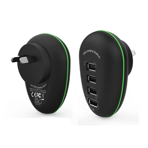 Portable 4 Port USB Charge