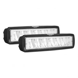 DEFEND Pair 6 inch CREE FLOOD LED Work Light Bar Reverse Driving Lights 4WD