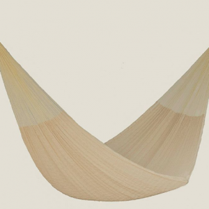 Single Size Cotton Mexican Hammock in Cream Colour