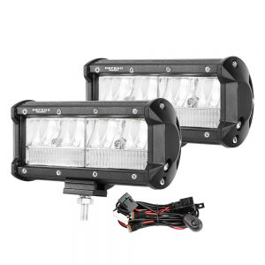 DEFEND 2x 7inch Cree LED Light Bar Spot Flood Work Driving Reverse Offroad