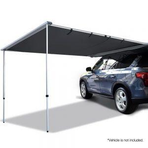 Car Shade Awning 2.5 x 3M - Charcoal Black