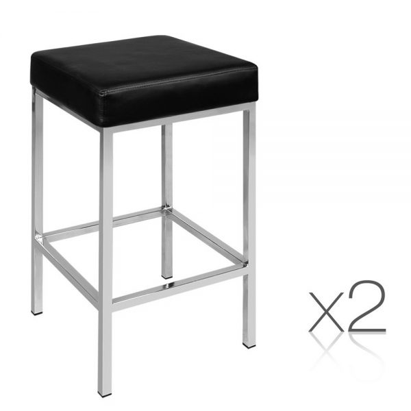 Artiss Leather Backless Bar Stools