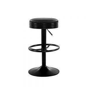 Artiss 2x Kitchen Bar Stools Gas Lift Bar Stool Chairs Swivel Barstools Black