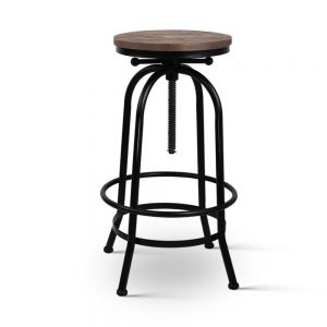 Artiss Rustic Industrial Round Bar Stool