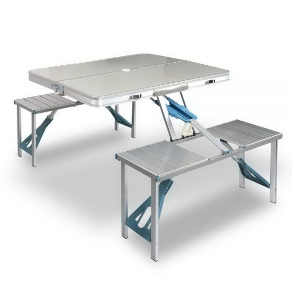 Portable Folding Camping Table and Chair Set 85cm
