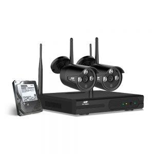 UL-Tech CCTV Wireless Security System 2TB 4CH NVR 1080P 2 Camera Sets