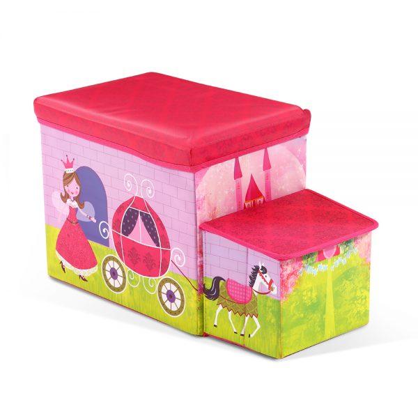 Kids Storage Toy Box Foldable Organiser - Pink