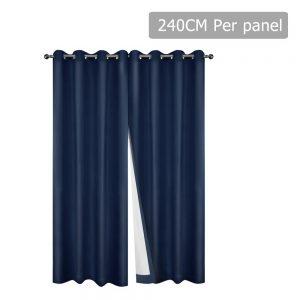 Art Queen Eyelet Blockout Curtains