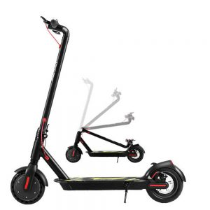 Electric Scooter Compact Portable Foldable Commuter Bike Kids Adult LED Light Black