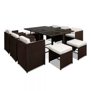 Gardeon Wicker Outdoor Dining Set