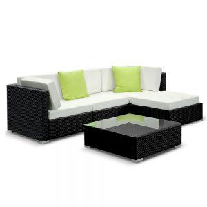 Gardeon 5PC Outdoor Furniture Sofa Set Wicker Garden Patio Pool Lounge