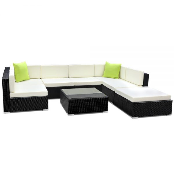 Gardeon 8PC Outdoor Furniture Sofa Set Wicker Garden Patio Pool Lounge