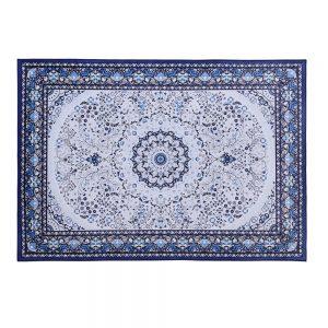 Artiss Short Pile Floor Rug 200x290cm Gaspar Blue