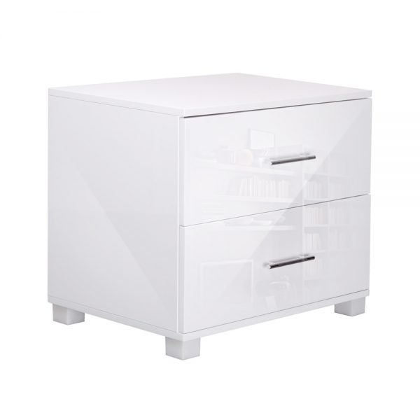 Artiss Two Drawers Bedside Table