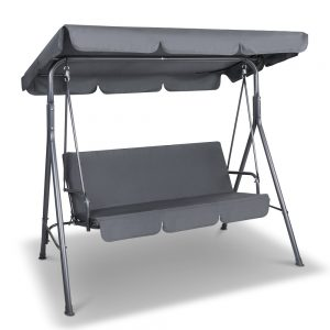 Gardeon Swing Chair with Canopy - Grey
