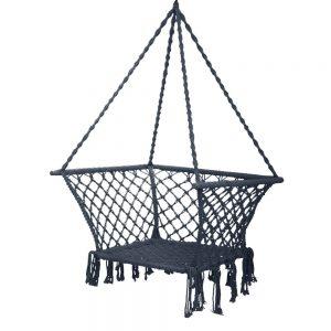 Gardeon Camping Hammock Chair Patio Swing Hammocks Portable Cotton Rope Grey