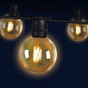 Jingle Jollys 23m LED Festoon String Lights 20 Bulbs Kits Wedding Party Christmas G80