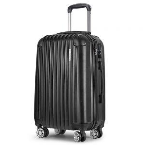 Wanderlite 24inch Lightweight Hard Suit Case Luggage Black