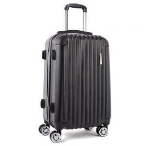 Wanderlite 28inch Lightweight Hard Suit Case Luggage Black