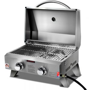 Grillz Portable 2 Burner Gas BBQ