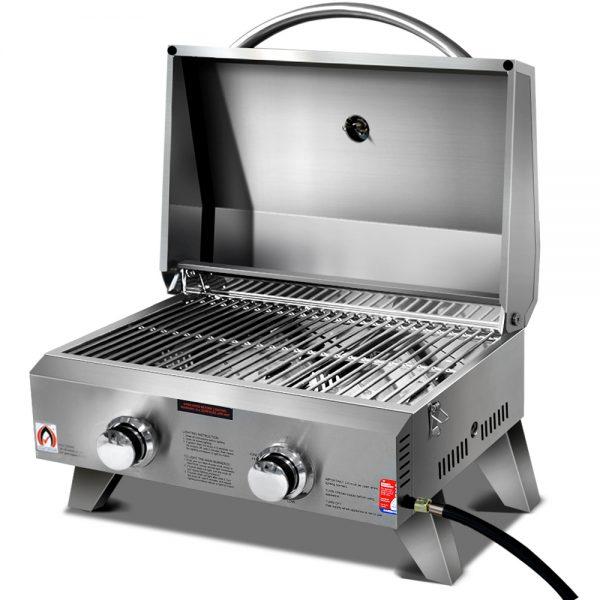 Grillz Portable 2 Burner Gas BBQ
