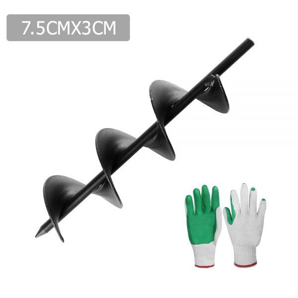 GIANTZ Power Garden Auger Small Earth Planter 75 X 300MM Black