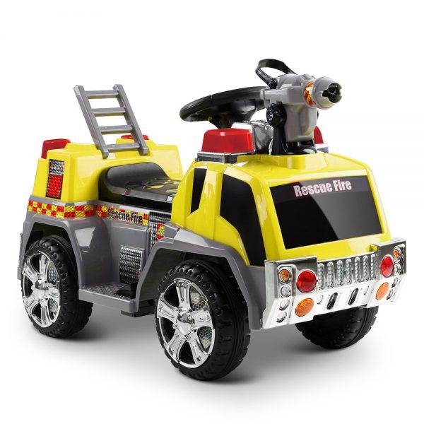 Rigo Kids Ride On Fire Truck Motorbike Motorcycle Car Yellow
