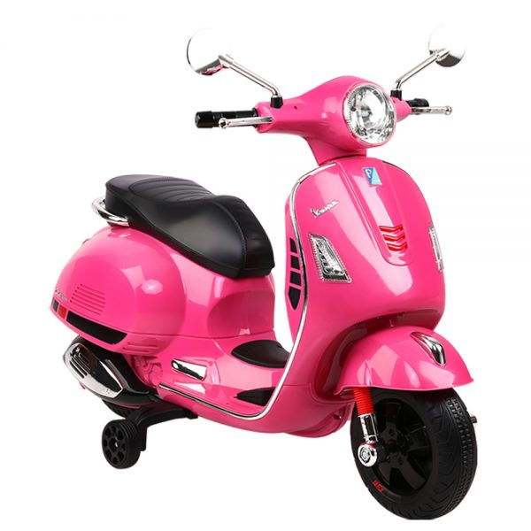 Rigo Kids Ride On Motorbike Vespa Licensed Motorcycle Car Toys Pink