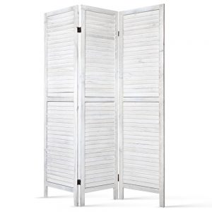 Artiss Room Divider Privacy Screen Foldable Partition Stand 3 Panel White