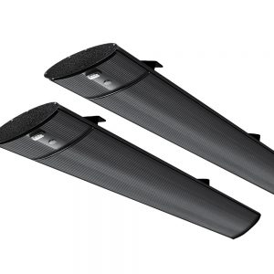 Devanti 2X 1800W Electric Radiant Strip Heater Panel Outdoor Heat Bar Remote Control Black