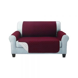 Artiss Sofa Cover Quilted Couch Covers Protector Slipcovers 2 Seater Burgundy