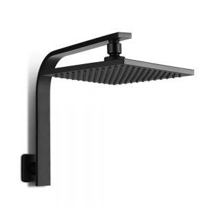 "WELS 8"" Rain Shower Head Set Bathroom Gooseneck Square Faucet High Pressure Hand Held"