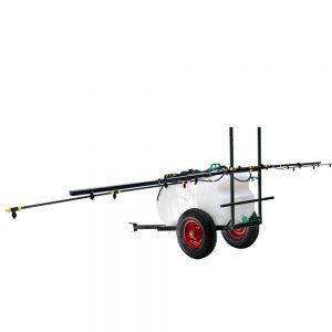Giantz 100L ATV Weed Sprayer 5M Boom Trailer Spot Spray Tank Farm Pump