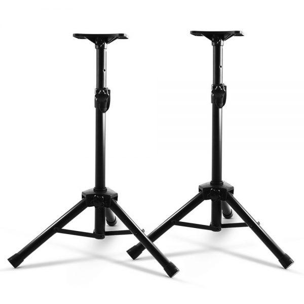 Set of 2 Adjustable 120CM Speaker Stand - Black