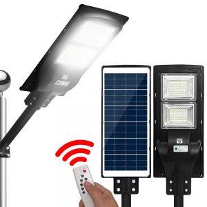 LED Solar Street Flood Light Motion Sensor Remote Outdoor Garden Lamp Lights 120W