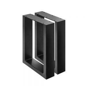 2x Coffee Dining Table Legs Steel Industrial Vintage Bench Metal Box Shape 400MM