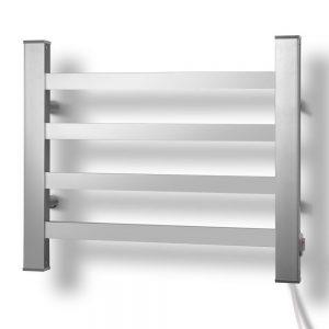 DEVANTI Electric Heated Ladder Towel Rails Bathroom Dryer Clothes Warmer 4 Racks Square Bars Rungs