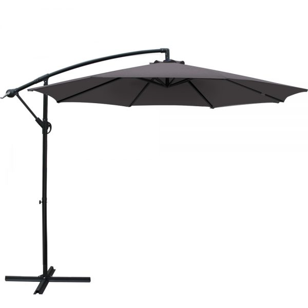 Instahut 3M Outdoor Furniture Garden Umbrella Charcoal