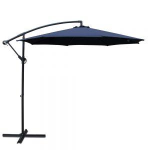 Instahut 3M Cantilevered Outdoor Umbrella - Navy