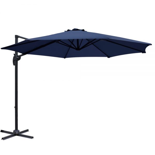 Instahut 3M Roma Outdoor Furniture Garden Umbrella 360 Degree Navy