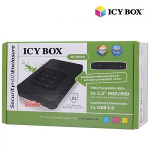 "ICY BOX USB 3.0 Keypad encrypted enclosure for 2.5"" SATA SSD/HDD (IB-289U3)"