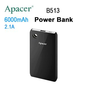 APACER Mobile Power Bank B513 6000mAh Black