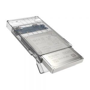 "Simplecom SE203 Tool Free 2.5"" SATA HDD SSD to USB 3.0 Hard Drive Enclosure Clear"