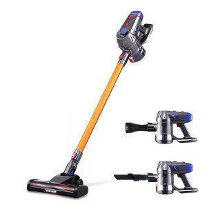Devanti Handheld Vacuum Cleaner Cordless Stick Handstick Car Vac Bagless 2-Speed LED Headlight Gold
