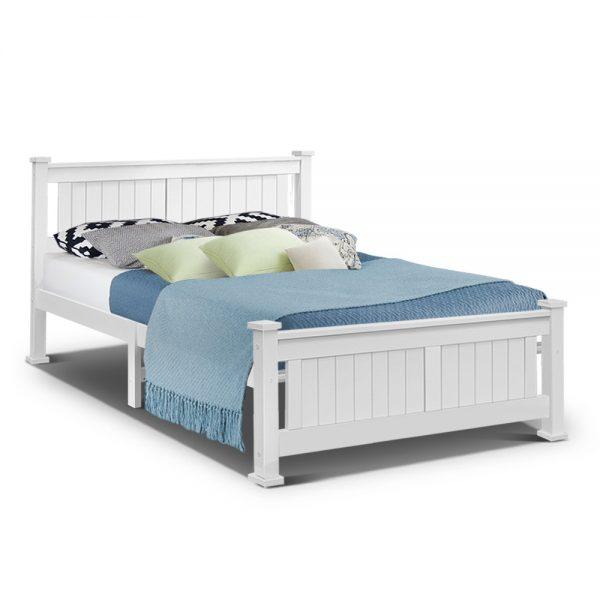 Artiss Queen Size Wooden Bed Frame Kids Adults Timber