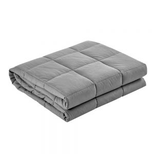 Giselle Bedding 7KG Cotton Weighted Gravity Blanket Relaxing Calming Adult Light Grey