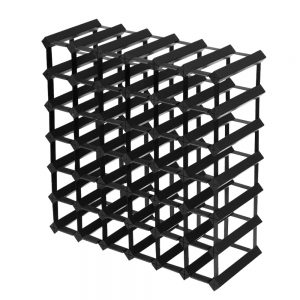 Artiss 42 Bottle Timber Wine Rack Wooden Storage Wall Racks Holders Cellar Black