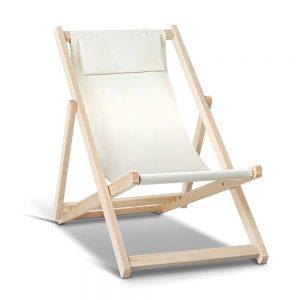 Artiss Fodable Beach Sling Chair - Sand