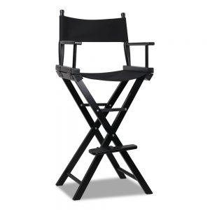 Artiss Tall Director Chair - Black